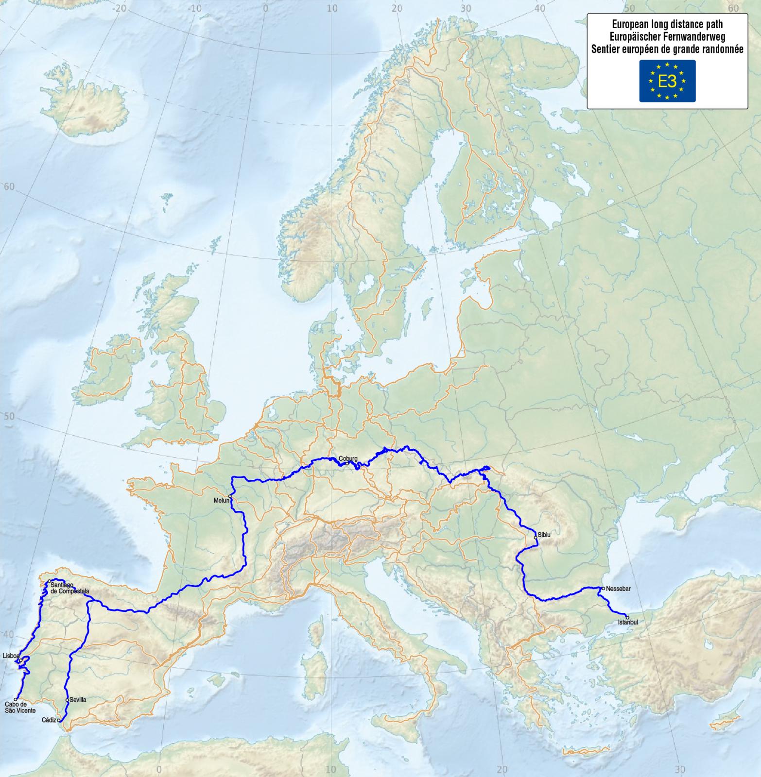 Europejski długodystansowy szlak pieszy E3 Blog